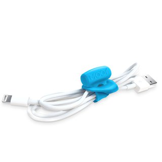 Clingman small sloth elastic cable tie - blue (three into the group)