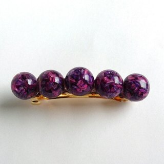 Dry Flower plenty ♪ Valletta (purple) 5 tablets barrette