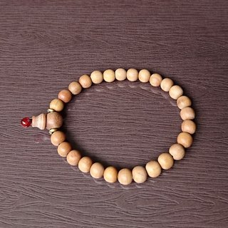 Natural Sandalwood Hand String - 6mm Classic - M - Light Wood Beads