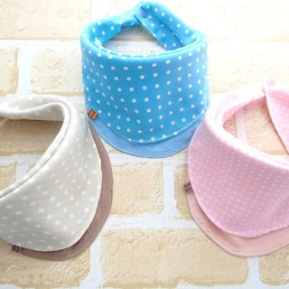 Baby Bib, Set of 3, Baby Bandana Bib, Reversible, Japanese Fabric, Polka Dots