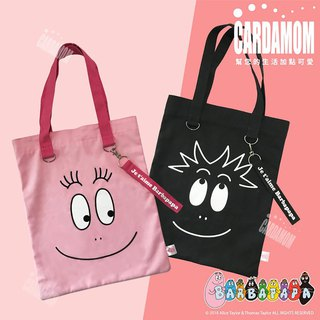 [BARBAPAPA Mr. bubble] large capacity side canvas bag bag card card genuine international authorized
