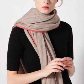 【In stock】Cashmere herringbone pattern scarf / shawl
