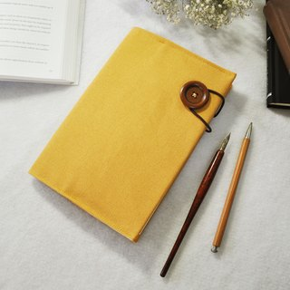 Hand-made book clothing notebook [obsessed] turmeric canvas section (A5)