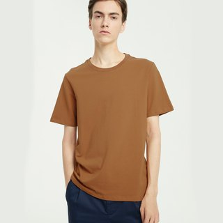 Rib-neck Cotton T-Shirt