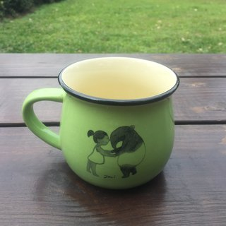 Malay 貘 illustration ceramic coffee cup - children's play articles grass green