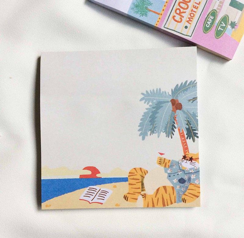 老虎在沙灘筆記本上