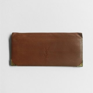 A ROOM MODEL - VINTAGE, YSL long brown folder / BD-0672