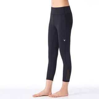 [MACACA] hip fixed mid-hip fit cropped trousers - ASE6581 black