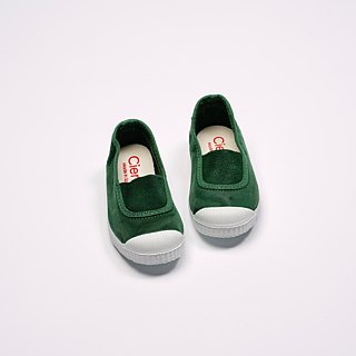 Spanish national canvas shoes CIENTA children's shoes size washed old green fragrance shoes 75777 60