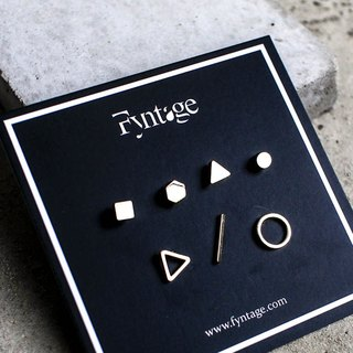 Minimal Geometric Ear Studs Set - 7 in 1