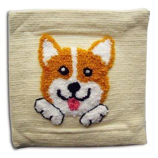 Corgi Fabric Coaster