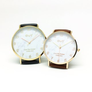 Customized watches - digital marble watch