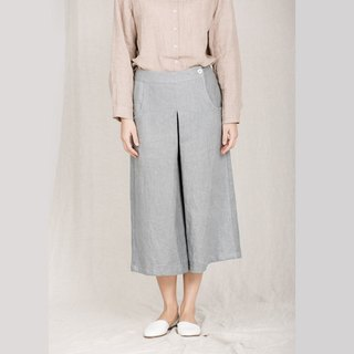BUFU ramie wide leg loose pants  P161007