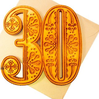 Wishes you 30 years old happy [Hallmark-Signature classic handmade series birthday wishes]