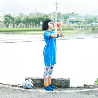 ✈ ☁ ☁ ige rain on the plane / cotton cotton long dress / morning color