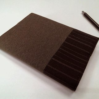 Exquisite A6 cloth book clothing ~ brown (single product) B04-039