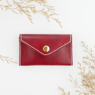 Envelope styling business card holder card case dark red