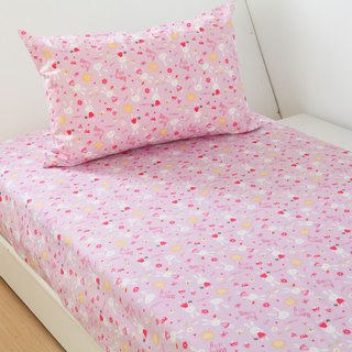 Anti-mite waterproof breathable cotton bedding bed bag pillow set <rabbit garden> single cleaning pad diapers mat waterproof pad