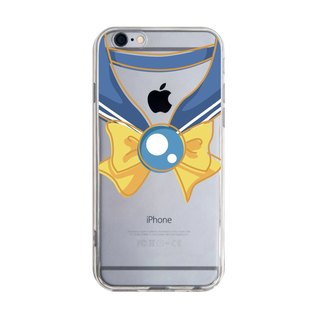 Transparent sailor uniform blue yellow knot iPhone X 8 7 6s Plus 5s Samsung note S7 S8 S9 plus Mobile Shell Mobile Phone Cases