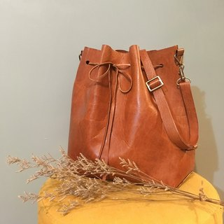 Dear * bucket bag handmade deerskin