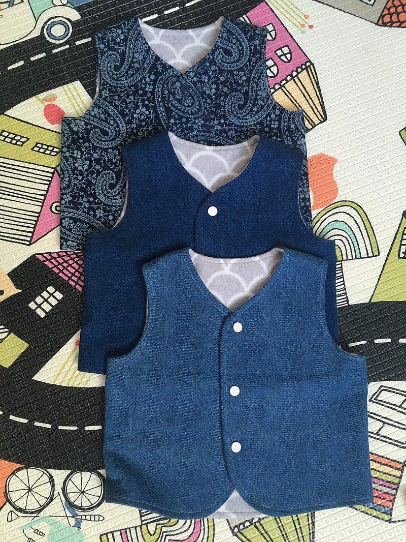 Baby denim double-side vest 嬰幼兒丹寧兩面馬甲 牛仔雙面背心