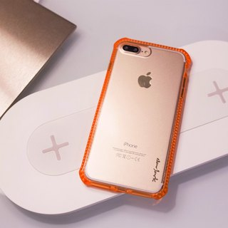 iPhone 8 Plus / 7 Plus (5.5吋) Super Anti-fall shock-absorbing air protection cover powder pink orange