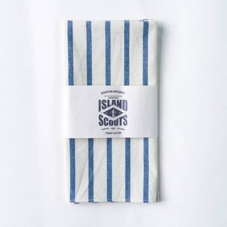 Scouts Bandana - Blue/White Chambray Stripes