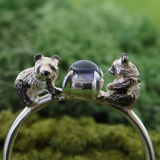 Panda Ring Black Plated