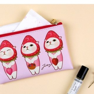 Jetoy, Sweet Cat Card Passport Coin Purse _Berry choo J1707401