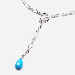 Turquoise & Figaro chain anklet SV925【Pio by Parakee】绿松石腳鍊