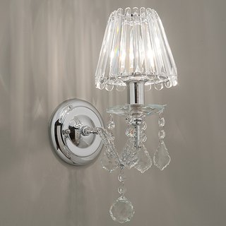 Crystal single candlestick wall lamp