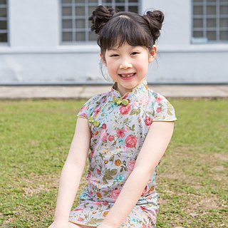Children's ancient cheongsam - four seasons - 蜻蜓 point water