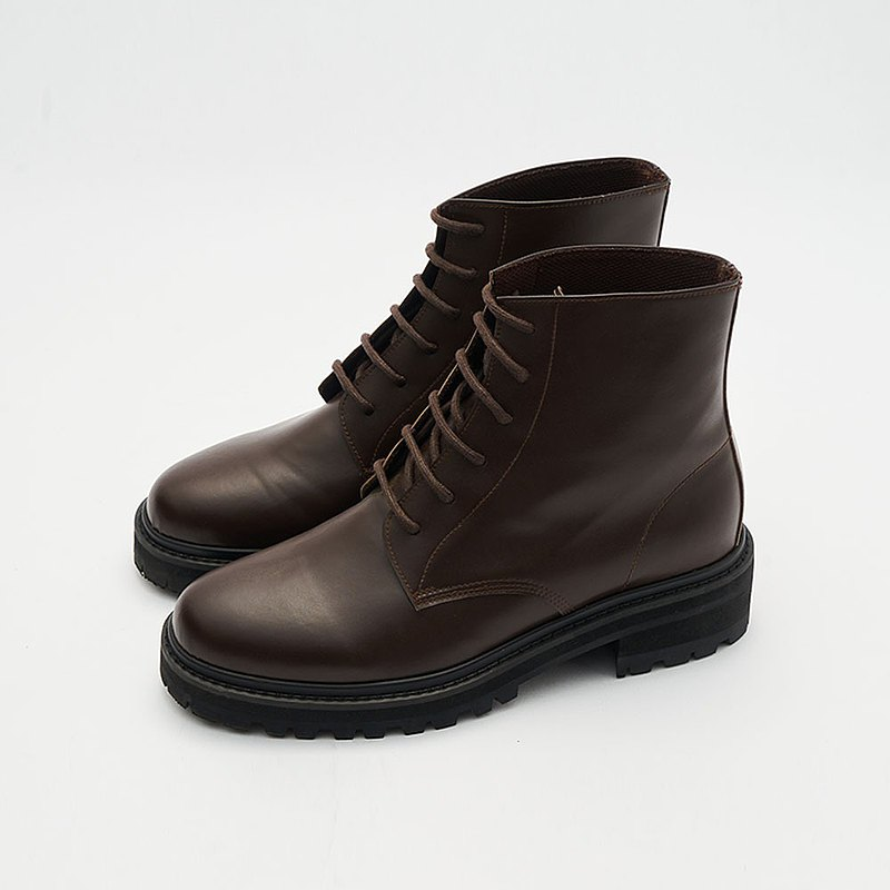 Gullar 六孔馬丁男鞋-素食皮鞋(深咖啡色)