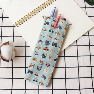 Cute cat pencil case / bundle pocket pencil case storage bag