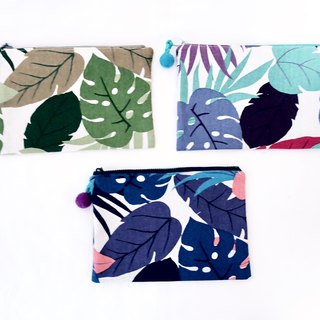 Cosmetic bag - imported from Japan - tropical rainforest