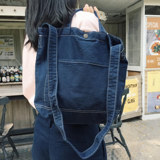 New Navy Little Canvas Tote / Weekend bag / Shopping bag