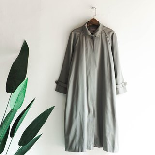 Elm wood gray green surface classic girl antique thin material windbreaker jacket trench_coat dustcoat