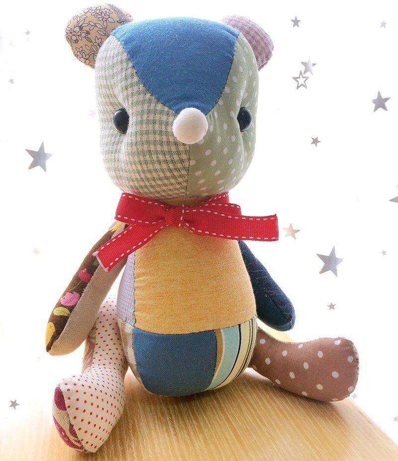 手縫製作 拼布小熊 最溫暖最有質感的禮物
