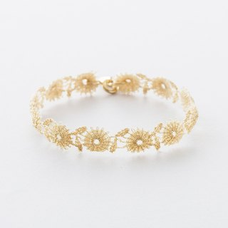 Metallic Flower Lace Bracelet / Metallic Flower Lace Bracelet