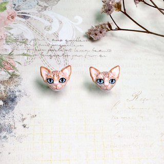 Sphynx cat earrings, Cat stud earrings, tiny cat earrings, cat lover gifts