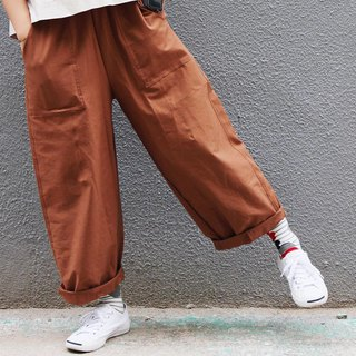 Homemade / pedicure pants - mud orange