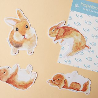 Rabbit Bunny Luggage Stickers/ Vinyl Sticker/ Planner Window Laptop Cell Phones