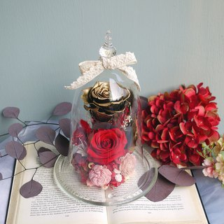 Magical No Falling Gold Rose Glass Bell Deluxe Edition Mother's Day/Valentine's Day