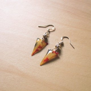 Triangle // 2nd use Accessories / Accessories Cloth / fabric earrings