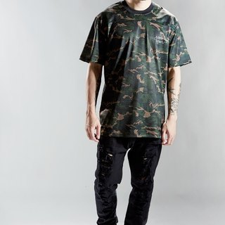 HWPD mesh football long version T-Shirt earth camouflage