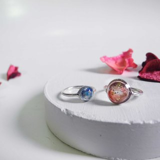 Cosmos series - Encounter meet your unique - Rings Red / Blue - -