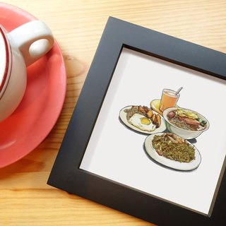 Tea Kee food illustration (with box)