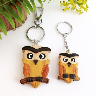 【Handmade Wooden Owl Key Ring / Charm】 ✦ August