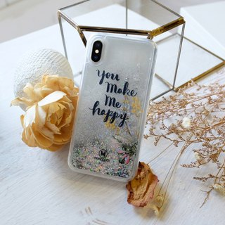 PATTERN LAB | Liquid Glitter Case for iPhone X - Happy