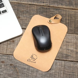 Minimal dip dyed yak leather suede handmade mouse pad / stamp pad